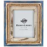 "Blue & White Nautical Frame - 5"" x 7"""